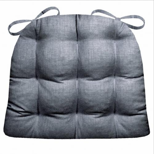 Chair Pad 15d X 17w Rave Graphite Gray