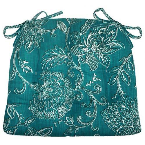 Chair Pad 15d X 17w Benson Teal