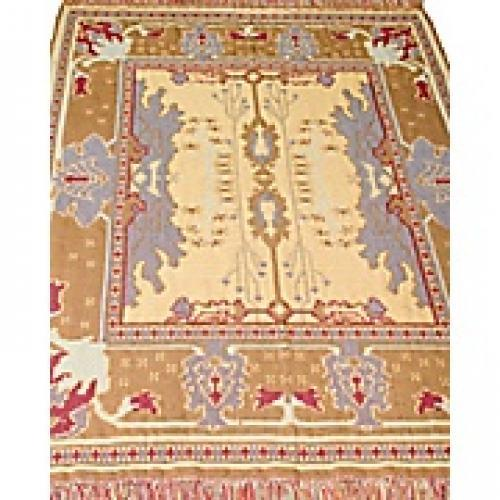 Mission Kilim 4ft X 6ft Rug Khaki/berry