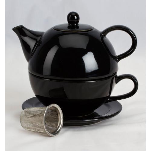 Teapot For One Set Black