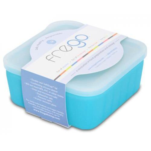 Food Storage Container Glass Square Silicone-Wrap blue 2cup