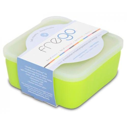 Food Storage Container Glass Square Silicone-Wrap green 2cup