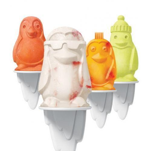 Ice Pop Mold Penguin 4 Piece Set