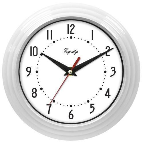 Wall Clock Analog Equity 8� Face-white Frame-white
