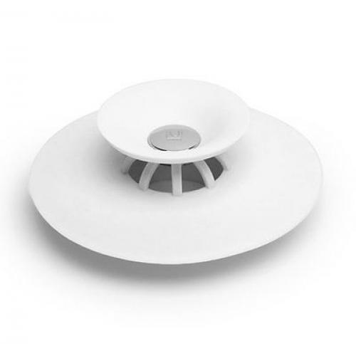 Flex Drain Stopper And Hair Catcher White