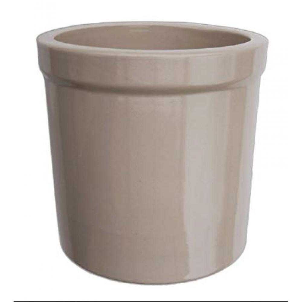 Utensil Holder Crock Stoneware Black