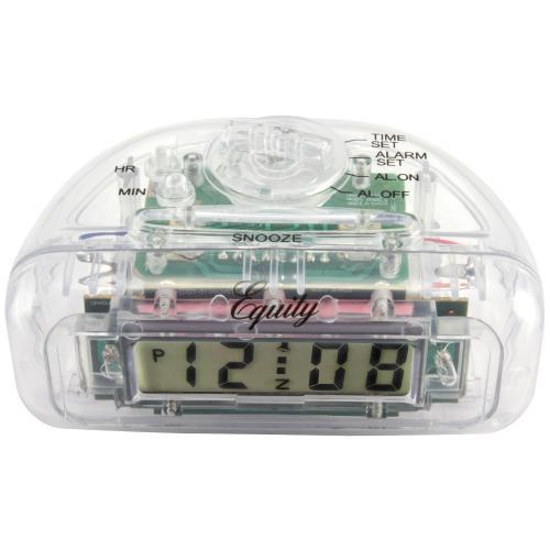 Alarm Clock L C D Clear