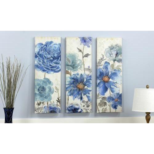Canvas Print Blue Flower Lattice ( Each Piece Sold Separately)