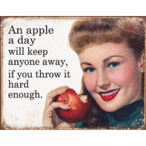 Tin Sign - Ephemera Apple A Day
