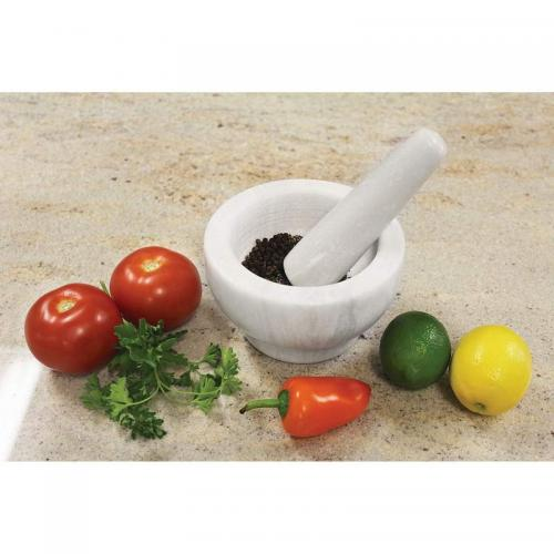 Mortar & Pestle Marble White 5.12x3.25in