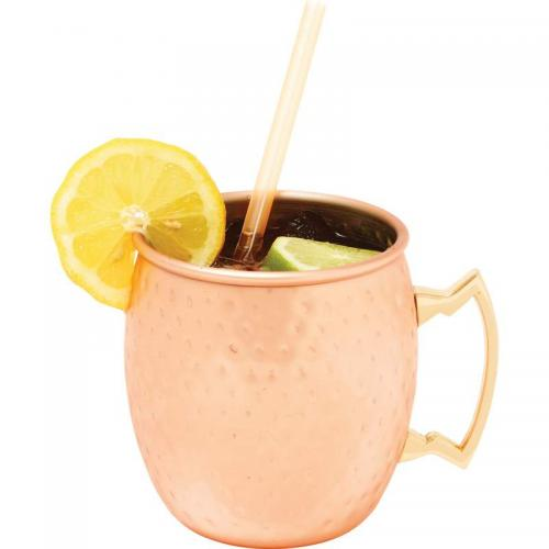 Drinkware Stainless Steel Copper-plated Hammered \'moscow Mule\' 18.6oz