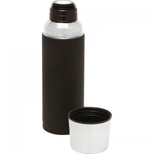 Travel Tumbler Mug Vacuum Bottle Stainless Steel Black Soft-touch 32oz 11.5in