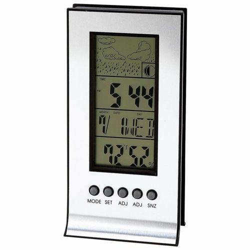 Alarm-clock Weather Station Indoor Calander Boxed-(mitaki By Maxam)