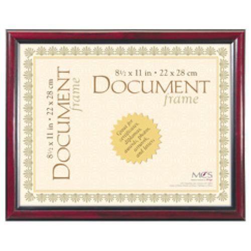 Document Frame University Elegant 8.5x11 Black & Gold