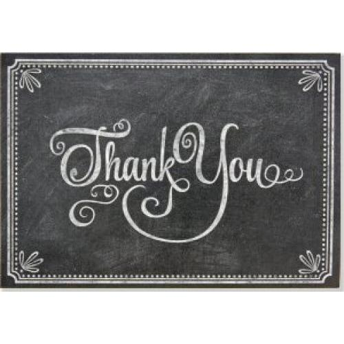 Boxed Card Thank You Chalkboard