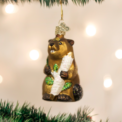 Christmas Ornament Eager Beaver