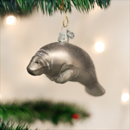 Christmas Ornament Manatee