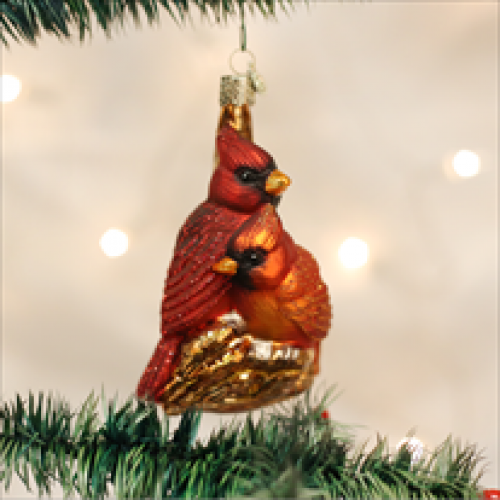 Christmas Ornament Pair Of Cardinals