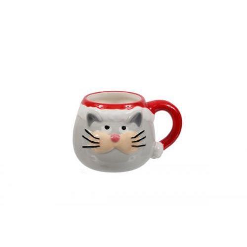 Seasonal Christmas Mug Santa Cat Face