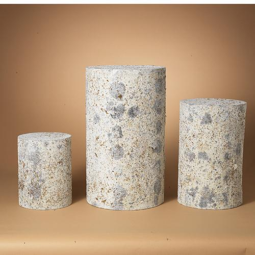Pedestal Tabletop Aspen Log Style Set Of 3 Sold Each Sm 29.99 Med 39.99 Lg 59.99