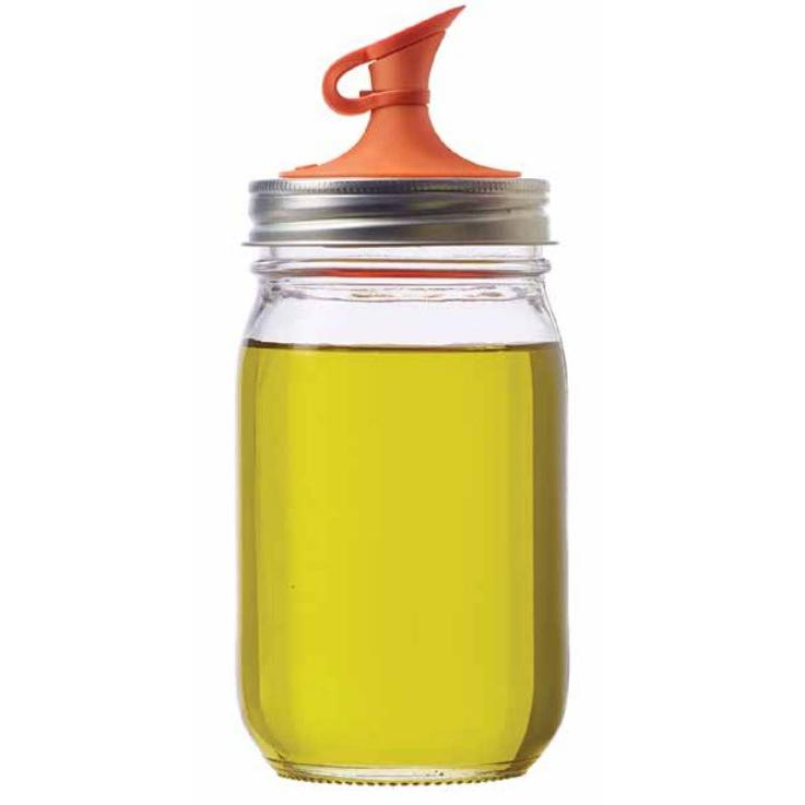 \'jarware\' Regular Mouth Jar Lid Oil Cruet With Stopper