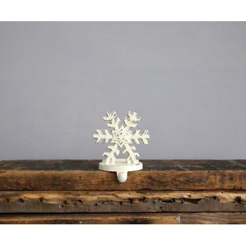 Seasonal Decor Stocking Holder White Snowflake