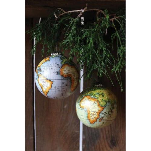 Seasonal  Ornament Globe 2asst