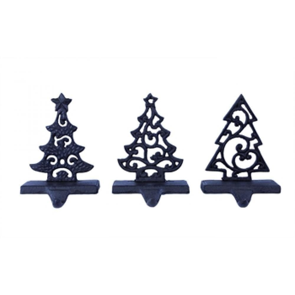 Christmas Decor Stocking Holder Trees 3asst