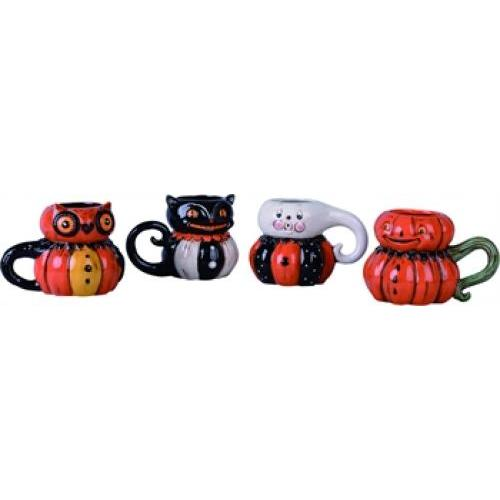 Halloween Tabletop Mugs 4asst
