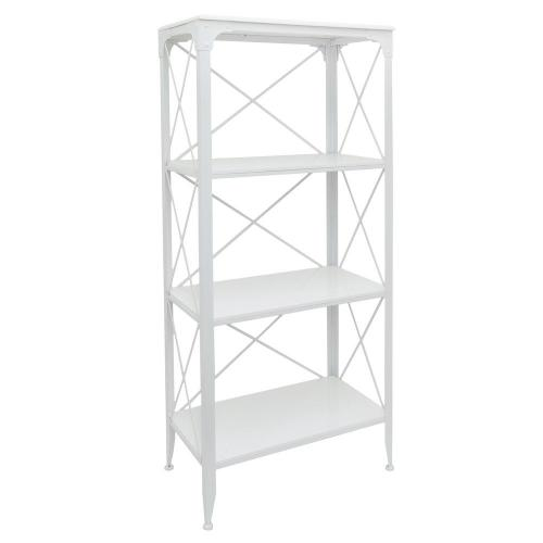 Shelving Unit Metal/wood White