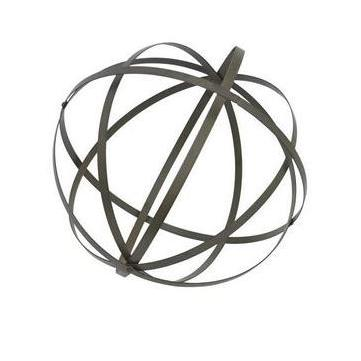 Outdoor Decorative Metal Orb Thin-bands Small