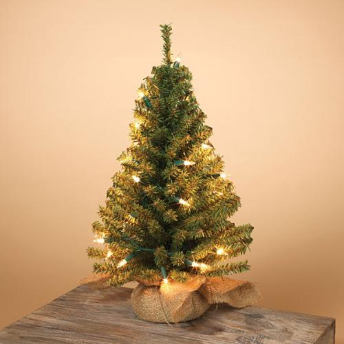 Christmas - Tree Pvc Unlit 148 Tips Burlap Bag Base 18in Tall