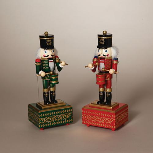 Christmas - Nutcracker Traditional Musical Square Base 2 Asst 12in