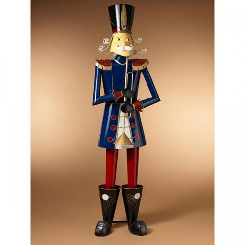 Christmas - Nutcracker Metal Blue 76in Tall