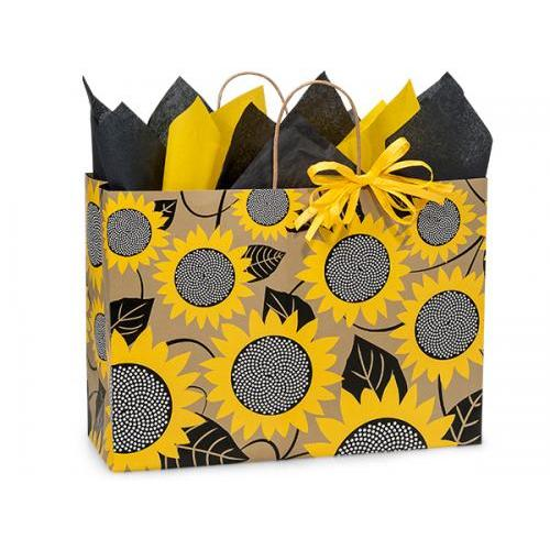 Gift Bag Large Vogue Sunflower Fields