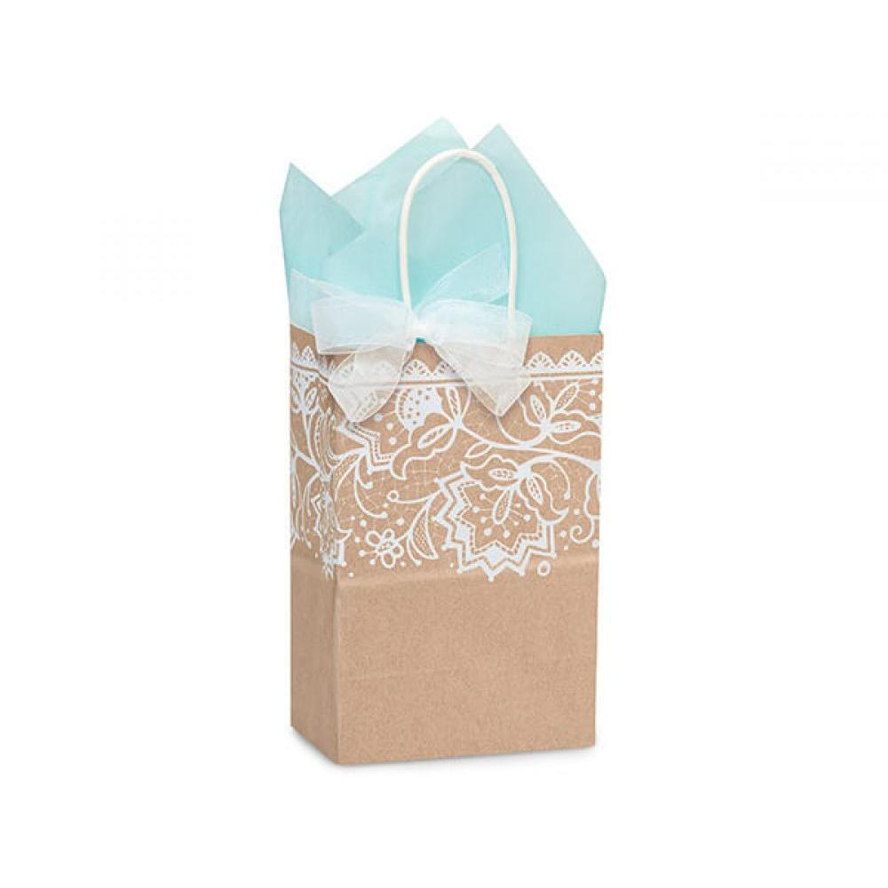 Gift Bag Rose Small Lace Borders