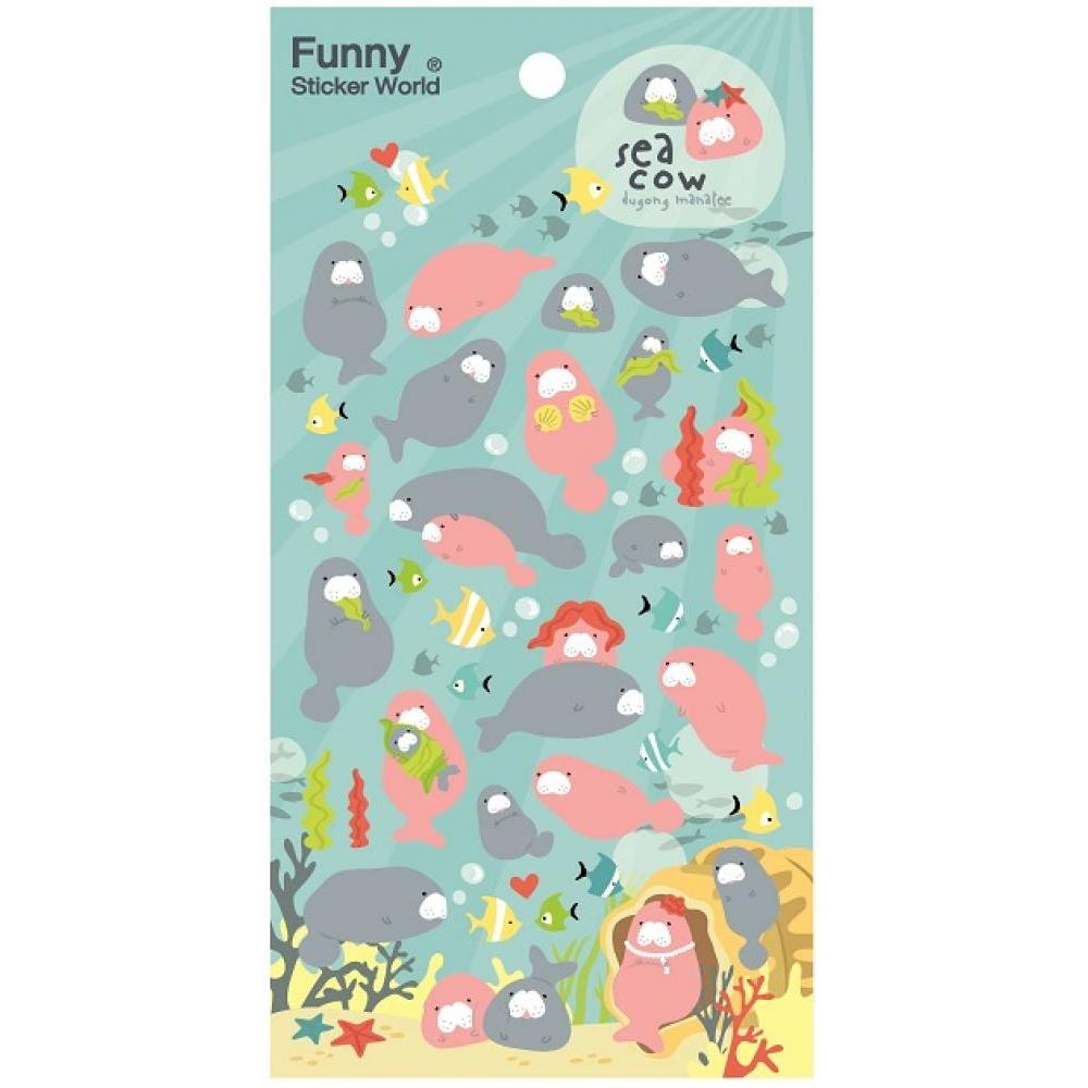 Stickers Funny Korea Puffy Manatee
