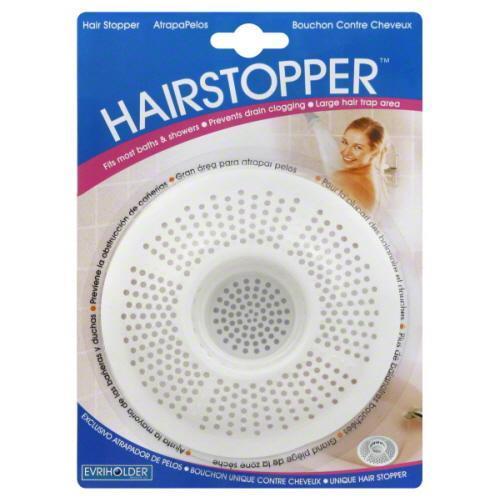 Hair Stopper Plastic Evriholder White