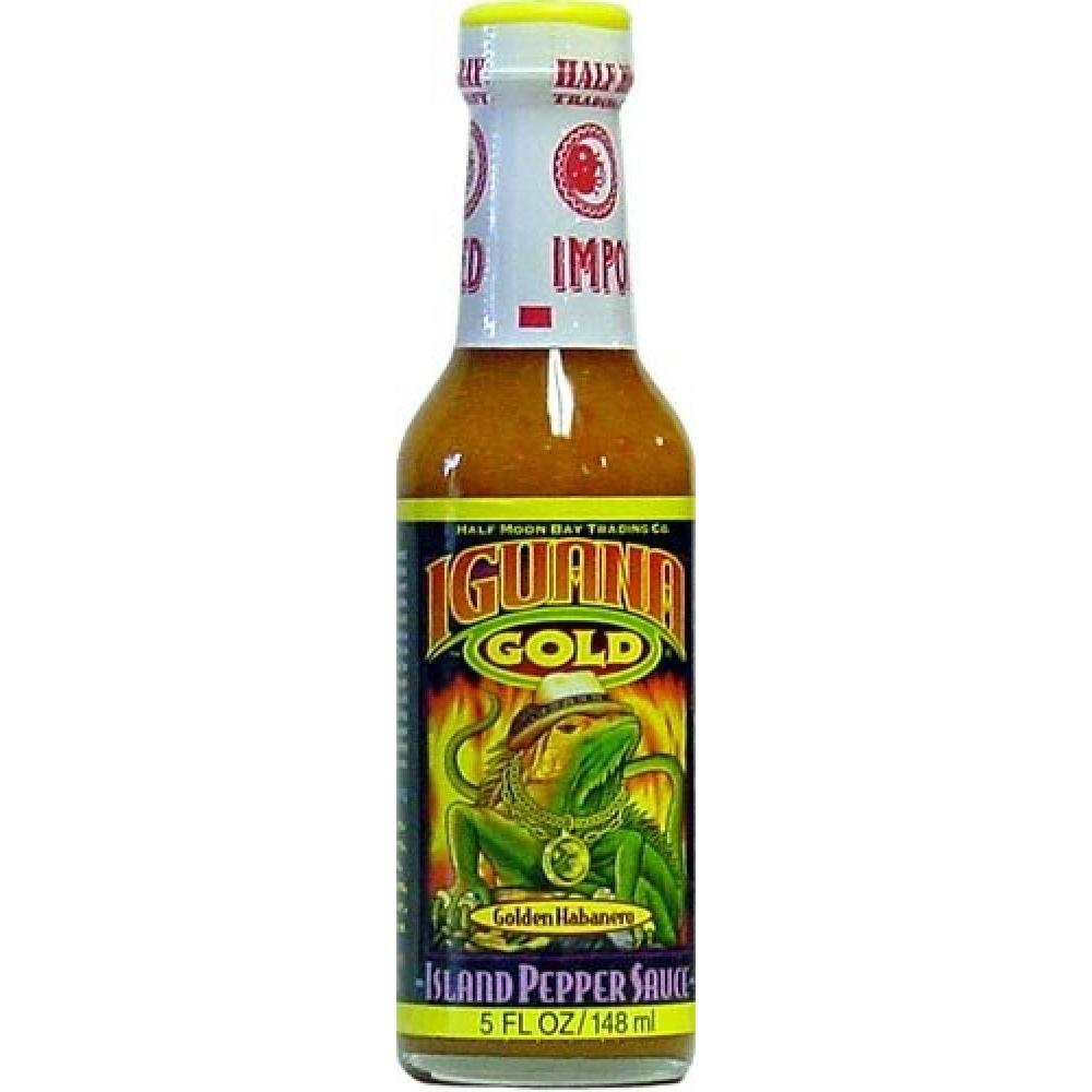 Barbecue Hot Sauce Iguana Gold Island Pepper 5oz