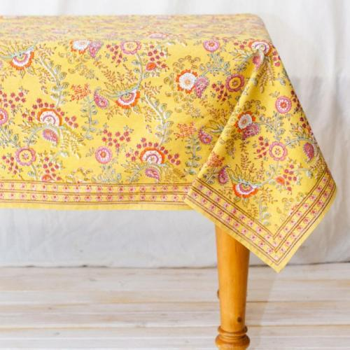 Juliette 60in X 60in Tablecloth Yellow