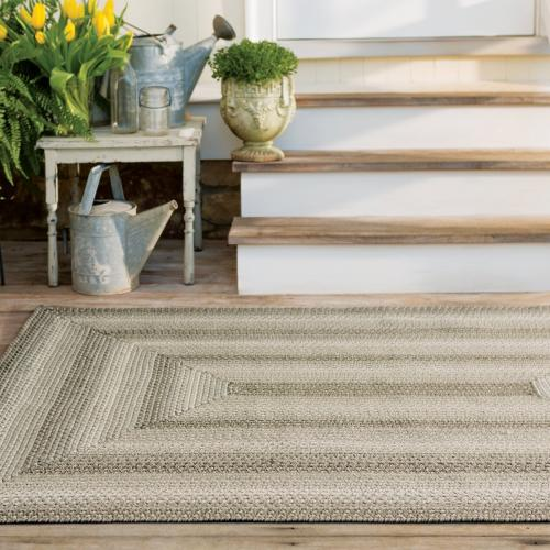 Ultra Wool Woven Rug Pebble 6ft X 9ft  Rectangular