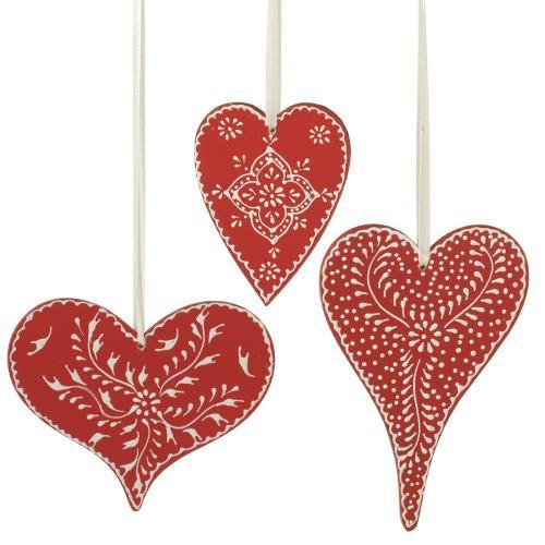 Ornament Heart 3 Asst