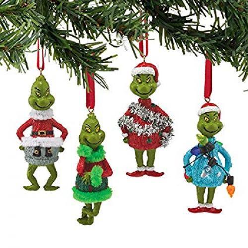 Ornament - Grinch Mini 4 Asst