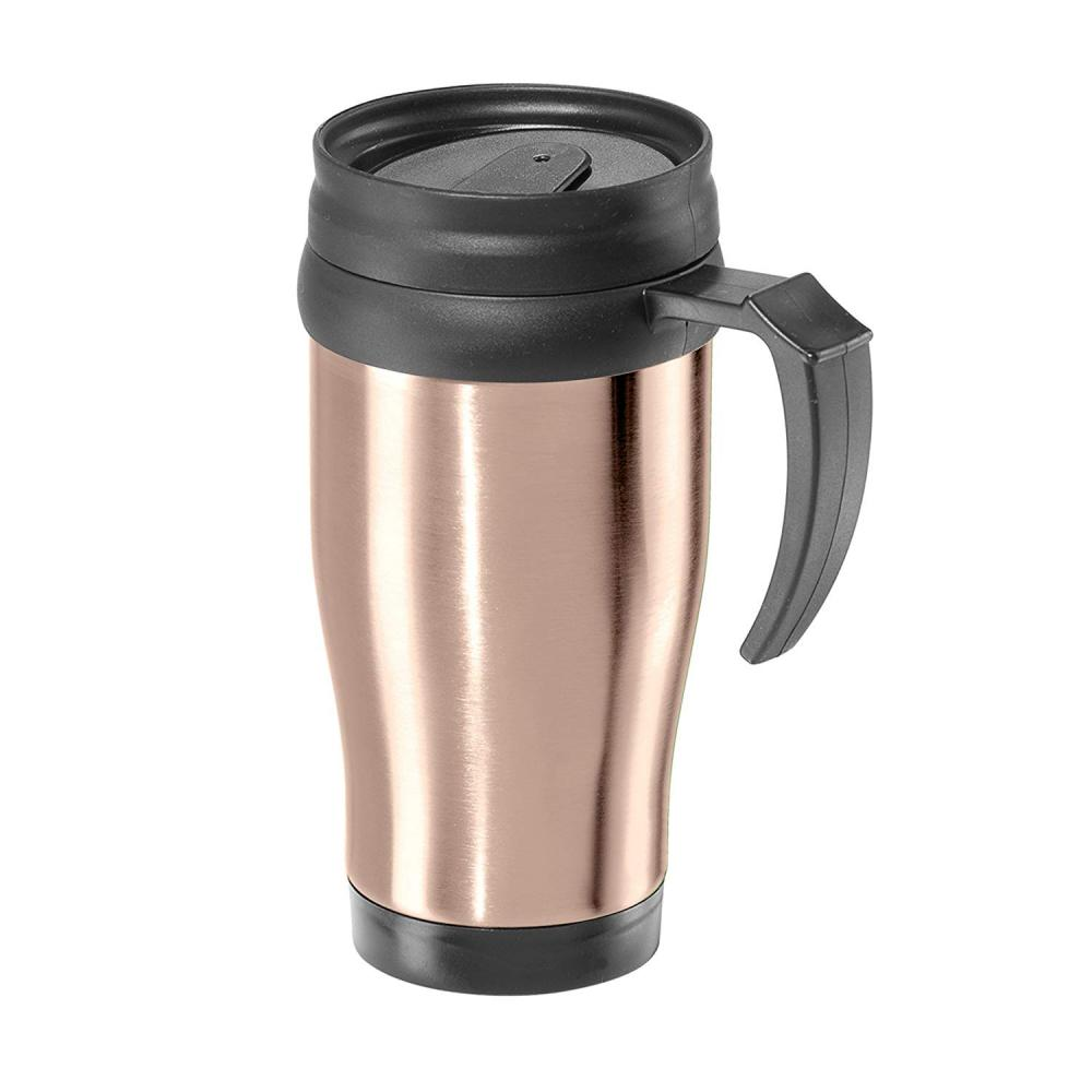 Travel Tumbler commuter Mug Stainless Steel Gold-champagne