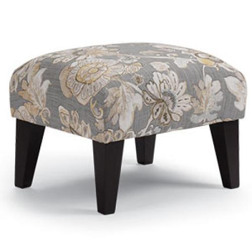 Randi Ottoman Distressed Pecan Feet Onyx Fabric ( Picture Does Not Reflect Leg Fiinish) )