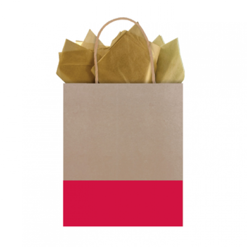 Gift Bag Kraft Dipped Ruby