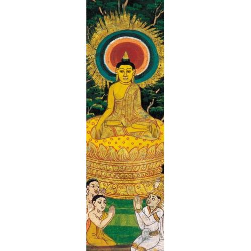 Bookmark - Buddha Preaches Sermon