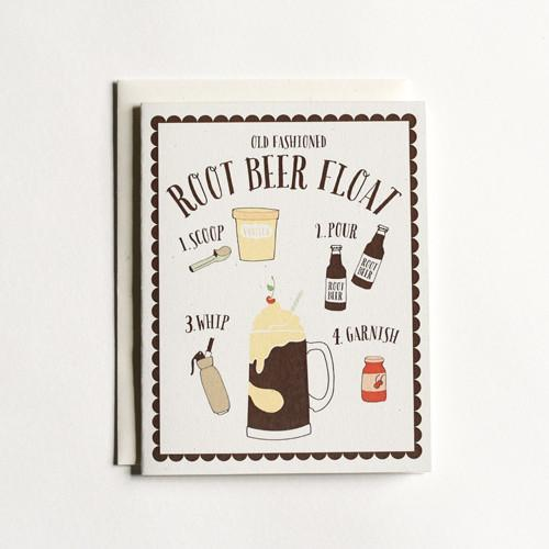 Any Occasion - Root Beer Float - Blank Inside