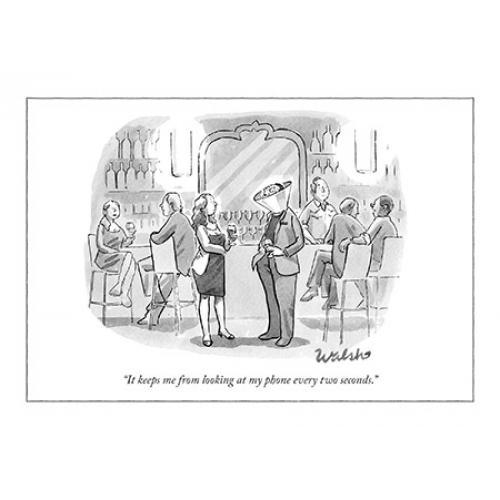 Any Occasion - New Yorker - Looking At My Phone