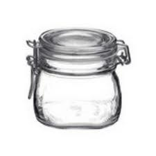 Jar Glass Wire-clasp \'fido\' Clear-top 0.5l